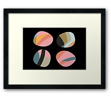 Striped patterned pebbles Framed Print
