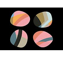 Striped patterned pebbles Photographic Print