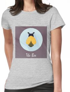 The Bee Cute Portrait Womens Fitted T-Shirt