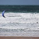 Kite surfing at Fistral by 1throughmyeyes