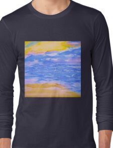 Atmospheric Layers with Beach Long Sleeve T-Shirt