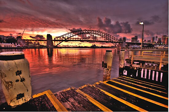 Morning Landing - McMahons Point Wharf - Moods Of A City The HDR Experience by Philip Johnson
