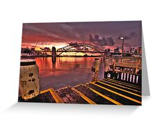 Morning Landing - McMahons Point Wharf - Moods Of A City The HDR Experience Greeting Card