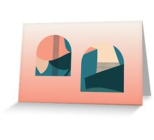 Floral pattern domes Greeting Card