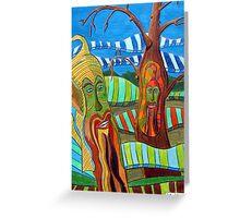 249 - GREEN MAN DESIGN - DAVE EDWARDS - ACRYLIC & COLOURED PENCILS - 2009 Greeting Card