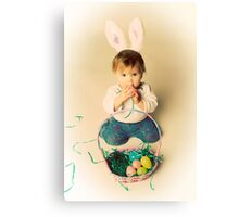 Easter Bunny Baby Canvas Print