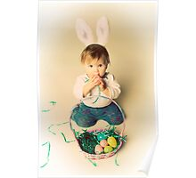 Easter Bunny Baby Poster
