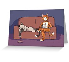 Cats on the Couch Greeting Card