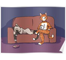 Cats on the Couch Poster