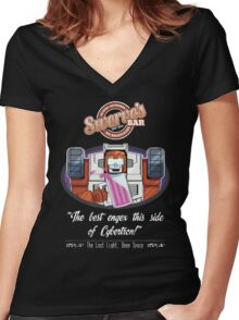 Swerve's Bar - Full Women's Fitted V-Neck T-Shirt