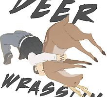 Deer Wrasslin' by Gery285