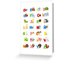 ABC (spanish) Greeting Card