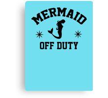 Off Duty Mermaid Canvas Print