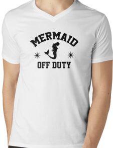 Off Duty Mermaid Mens V-Neck T-Shirt