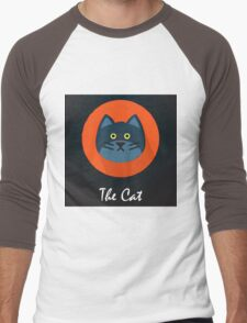 The Cat Cute Portrait Men's Baseball ¾ T-Shirt