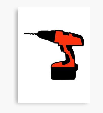 Cordless portable screwdriver Canvas Print