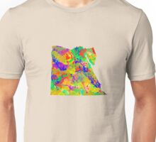 Watercolor Map of Egypt Unisex T-Shirt