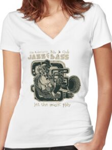 Jazz and Bass Women's Fitted V-Neck T-Shirt
