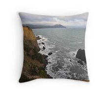 The Cliffs of Port Orford Throw Pillow