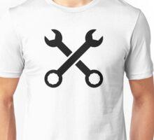 Crossed screw wrench Unisex T-Shirt