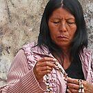Tohono O'odham shell vendor by Linda Sparks