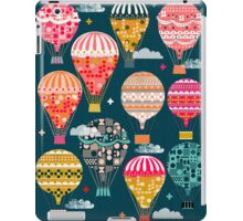 Hot Air Balloons - Retro, Vintage-inspired Print and Pattern by Andrea Lauren iPad Case/Skin