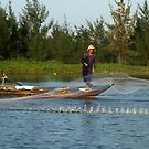 Net fishing in Hoi An, Central Vietnam by Bev Pascoe