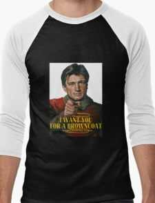 I Want You for a browncoat Men's Baseball ¾ T-Shirt