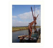 Boat at Snape Art Print