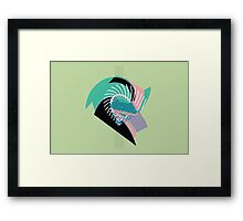 Spiked green abstract Framed Print
