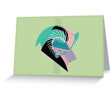 Spiked green abstract Greeting Card