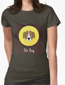 The Dog Cute Portrait Womens Fitted T-Shirt