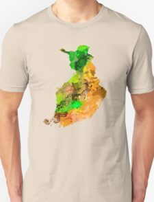 Map of  Finland Unisex T-Shirt