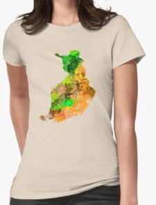 Map of  Finland Womens Fitted T-Shirt