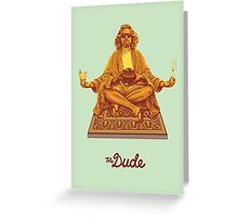 The Big Lebowski The Dude Greeting Card