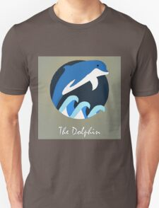 The Dolphin Cute Portrait Unisex T-Shirt