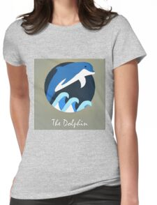 The Dolphin Cute Portrait Womens Fitted T-Shirt