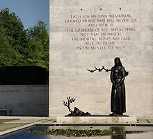 Memorial Statue  Netherlands American Cemetery by AnnieSnel