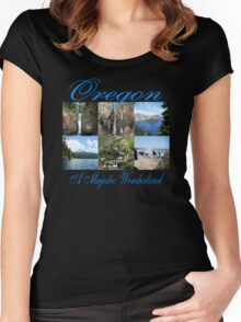 Oregon Majestic Wonderland Women's Fitted Scoop T-Shirt