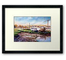"""""""Decay at the Boatyard """" Framed Print"""