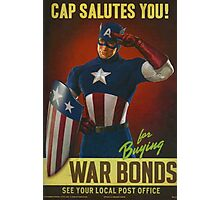 Cap Salutes You! Photographic Print