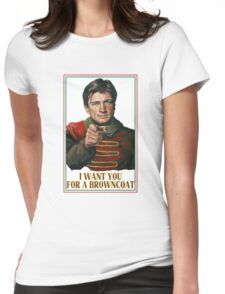 I Want You for a browncoat Womens Fitted T-Shirt