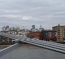 Londons Millenium Bridge by laurawhitaker