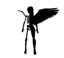 Anatomical Angel Silhouette  by JoSharp