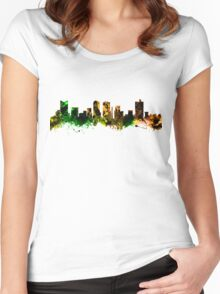 Skyline of Fort Worth Texas USA Women's Fitted Scoop T-Shirt
