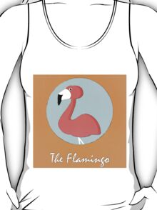 The Flamingo Cute Portrait T-Shirt