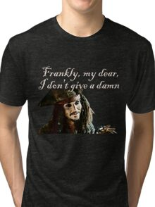 Jack Sparrow Just Doesn't Give a Damn Tri-blend T-Shirt