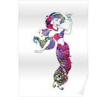 Jasmine Disney Princess Watercolor Poster