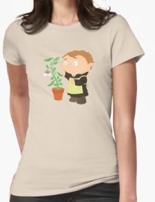 Gregor Mendel Womens Fitted T-Shirt