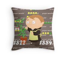 Gregor Mendel Throw Pillow